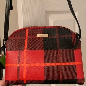 Plaid Red and Black Kate Spade Crossbody